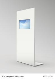 blank metal advertising stands