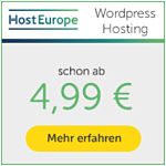 Wordpress Hosting HostEurope