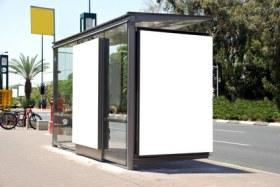 Werbung Promotion an Bushaltestellen