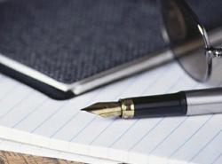 Geschäftsbrief Papier Stift