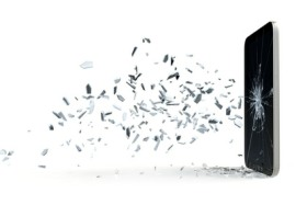 Smartphone Glasbruch Simulation 3D