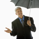 Geschäftsmann Mann mit modischen Anzug im Business Stil