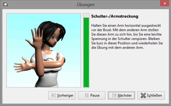 WorkRave - Dehn- und Stretchübungen für PC Arbeitspausen