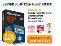 Bitdefender Family Pack Angebot inkl. Finanzschutz
