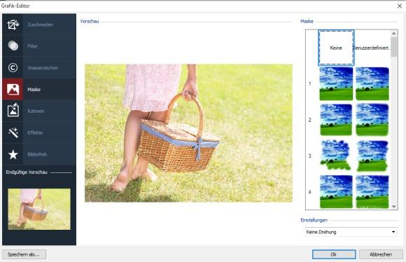Grafikeditor von WebSite X5 Pro