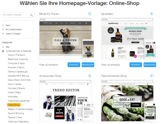 WixStores Online Shop