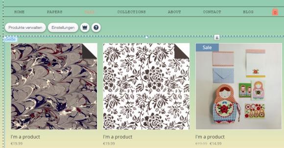 WixStore Produktgalerie