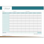 PDF Geschäftsformular Zeiterfassung Woche