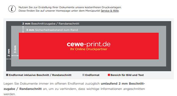 Druckdatenanleitung Cewe-print.de