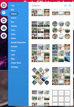 Wix Homepage Editor Fotogalerien