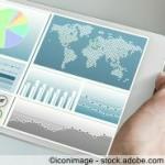 Tablet mit Business Daten