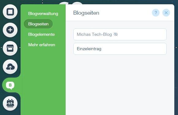 Wix Blogs Blogseiten