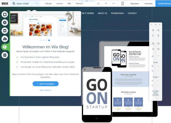Komfortabel einen Blog mit dem Wix Homepage Baukasten erstellen