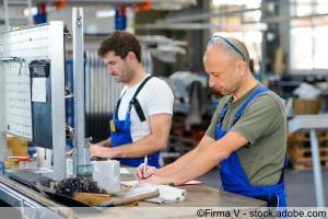 Arbeitsplatz Industrie mit Werkbank