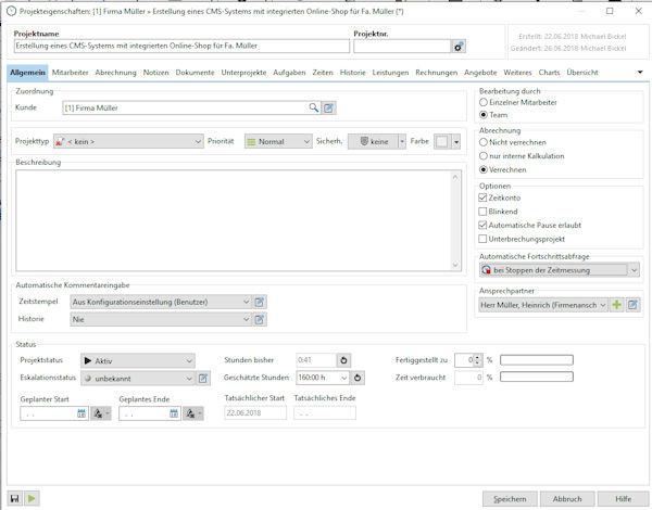 Xpert-Timer Zeiterfassung Projektverwaltung