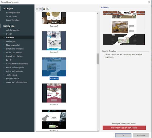 Templates erleichtern den Aufbau der eigenen Webseite