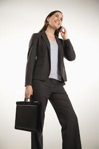 Business Frau im Hosenanzug